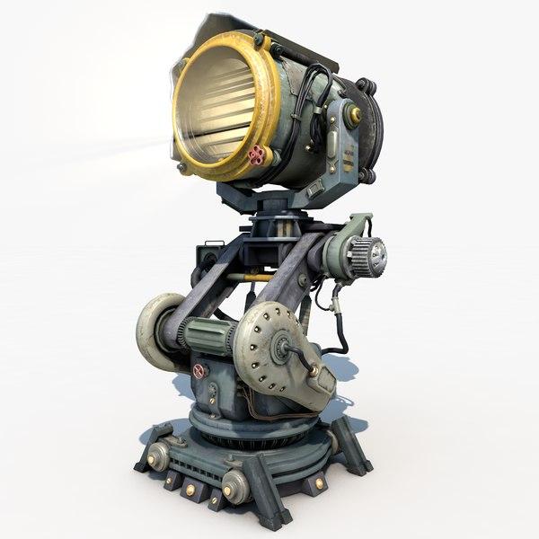3d sci - fi military model