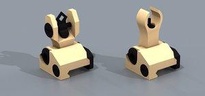 3d troy dioptic folding sight model