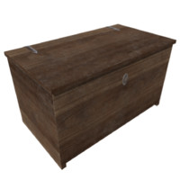 old wooden chest 3ds