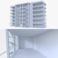 apartment interior buildings fbx