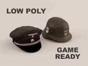 3d war hat helmet