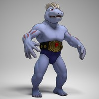machoke pokemon 3d obj
