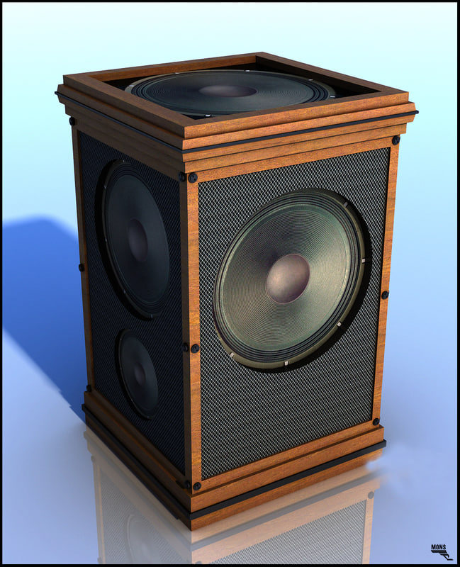 3d speaker cartoon speak
