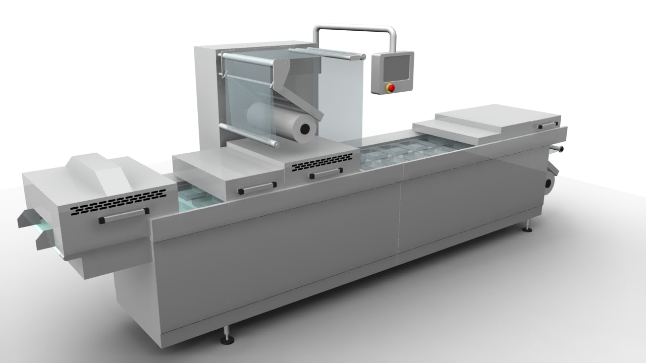 thermoforming machine food 3d model