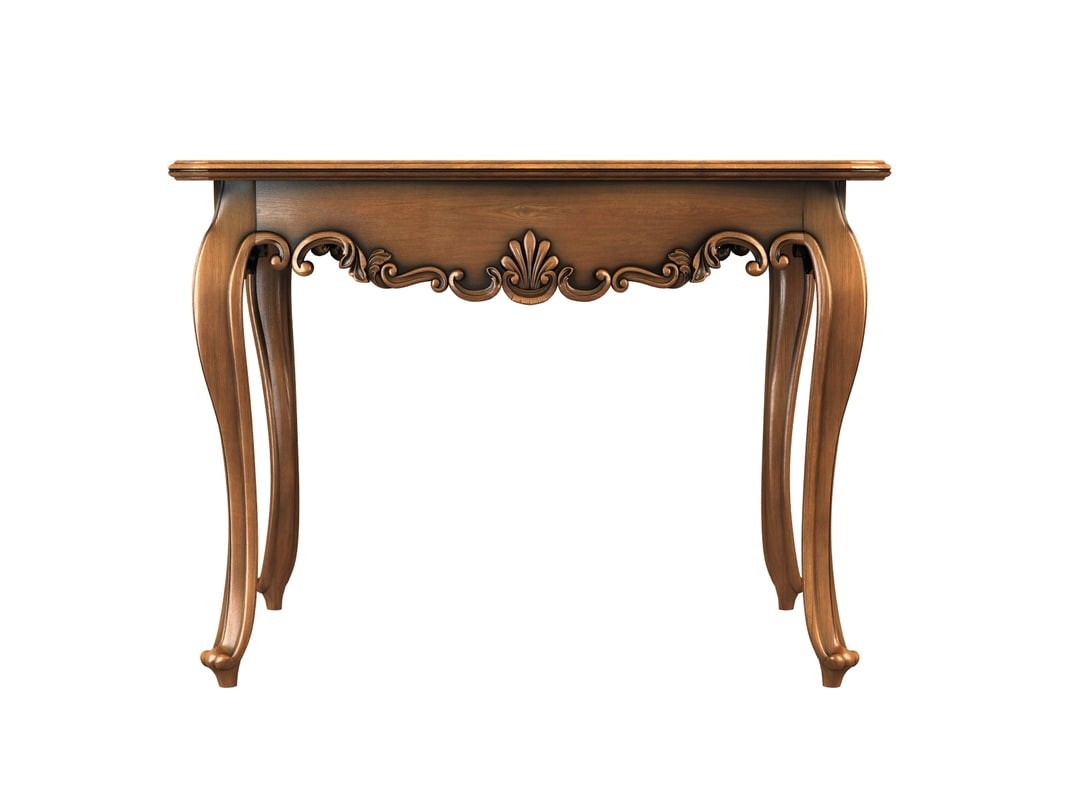 3d model of carved table