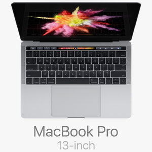 3d macbook pro 13-inch touch