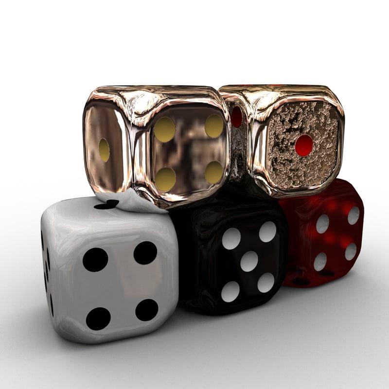 3d model of dice pbr