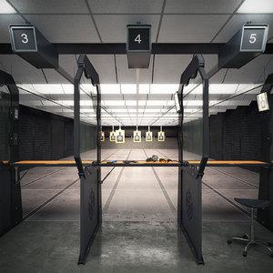 3d model shooting range