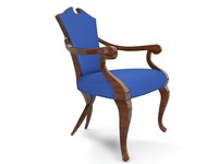3d armchair chair livingroom