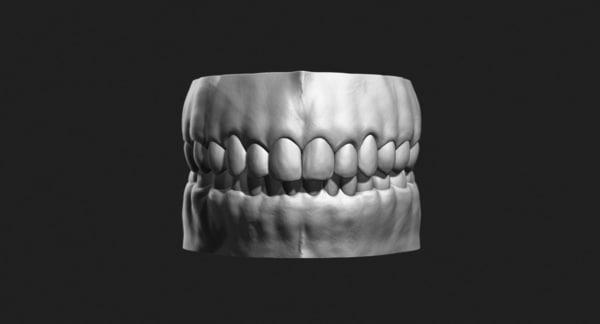teeth sculpt production 3d obj