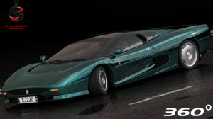 3d xj220 1992 interior model