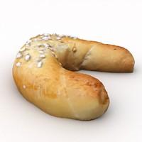 brioche croissant 3d model