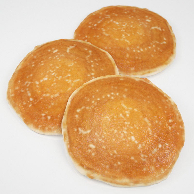 3d american pancake model
