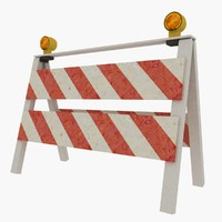 roadwork sign 3d model