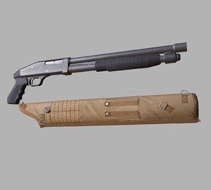 3d gun shotgun model