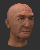 man portrait sculpture 3d 3ds