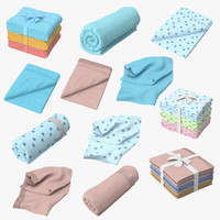 baby blankets 3d max