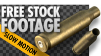 FREE Stock Video - Rifle Bullet Shell