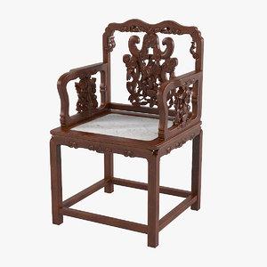 3d oriental chair model