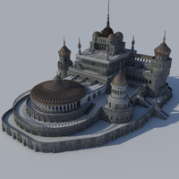 3d max palace science fiction fantasy