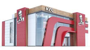 3d model of kfc restaurant