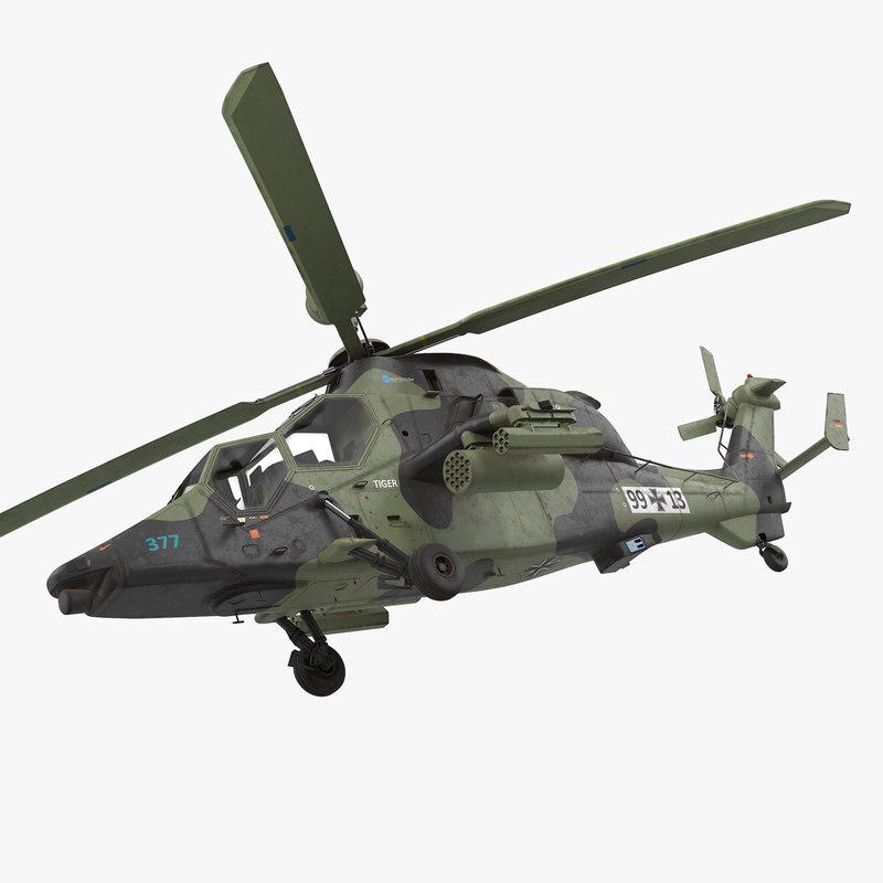 eurocopter tiger ec665 german 3d model