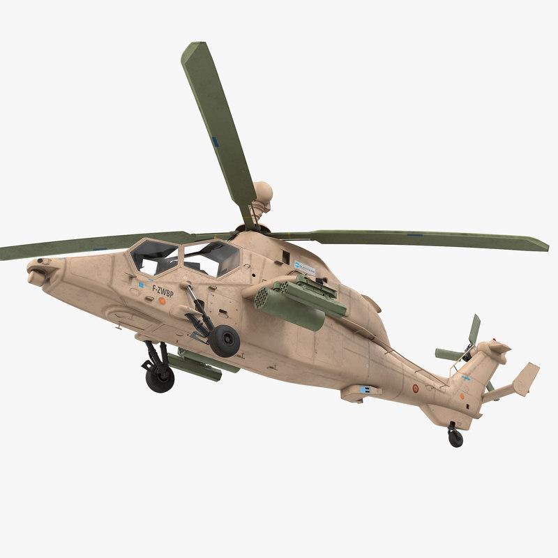 eurocopter tigre ec665 spain 3d max