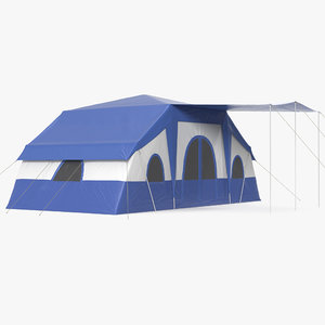 family camping tent 3d model