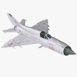 fighter mig-21 fishbed russian 3d max