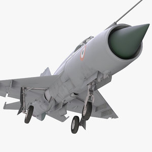 mig-21 bison indian air force 3d model