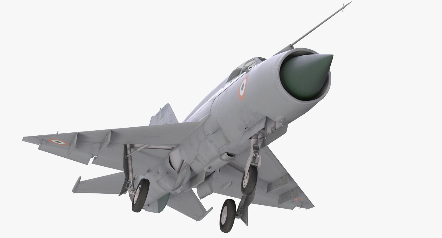 MiG-21 Bison Indian Air Force IAF Rigged 3D Model