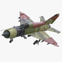 MiG-21 Egyptian Air Force Rigged 3D Model