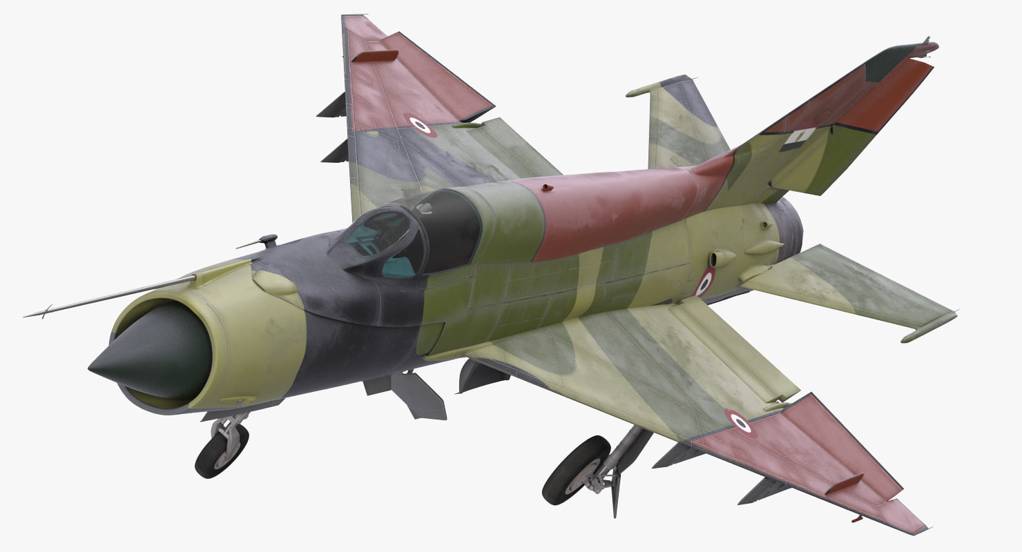 mig-21 egyptian air force 3d model