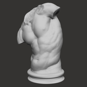 3d classic scanned sculptures model