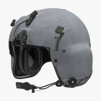 3d helicopter pilot helmet model