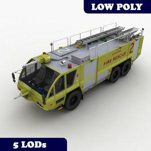 3d rosenbauer truck 2 lod