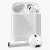 apple airpods set 3d model