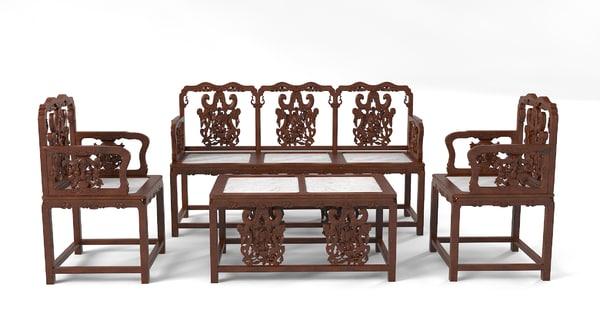 Oriental Furniture Set