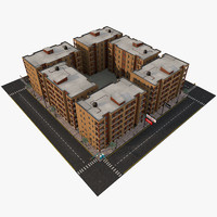 block apartments 3d model