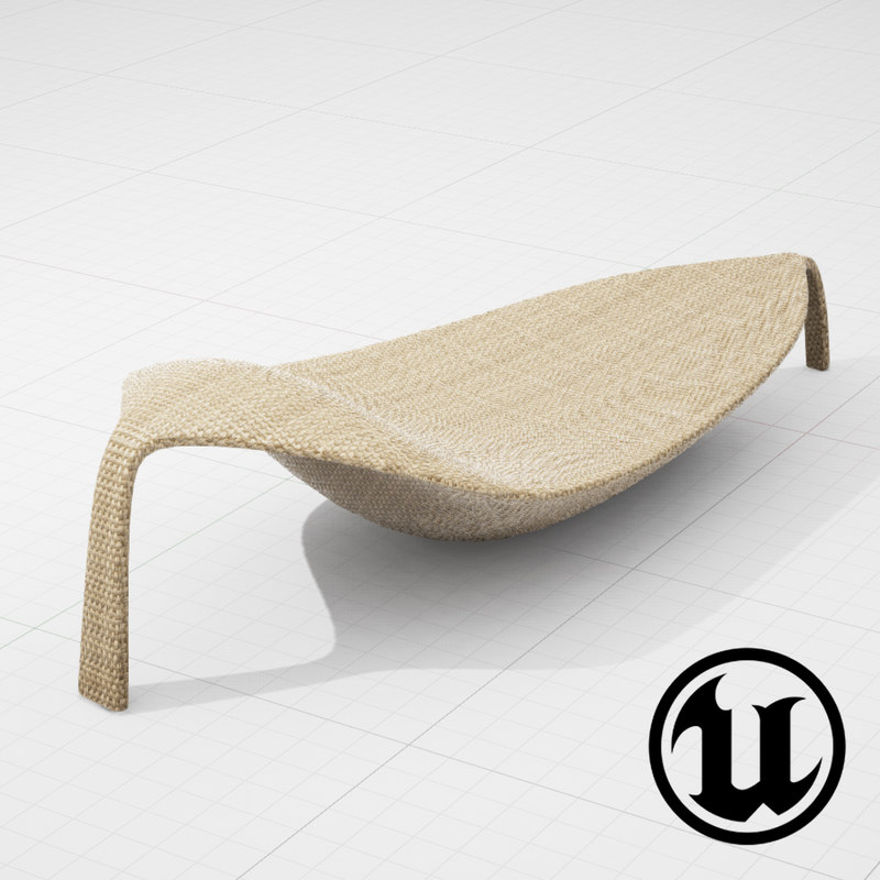 dedon leaf chair ue4 3d model