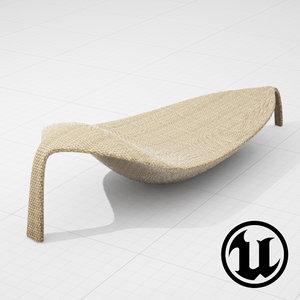 dedon leaf chair ue4 3d model
