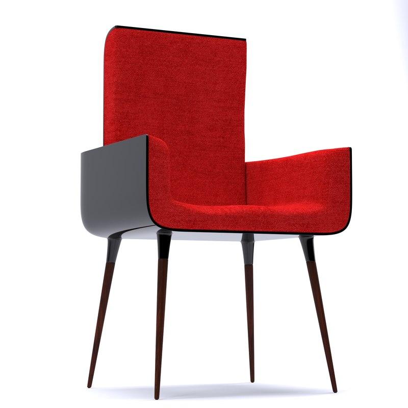 modern chair cube 3d model