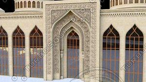 modelling mosque bibiheybet 3d model