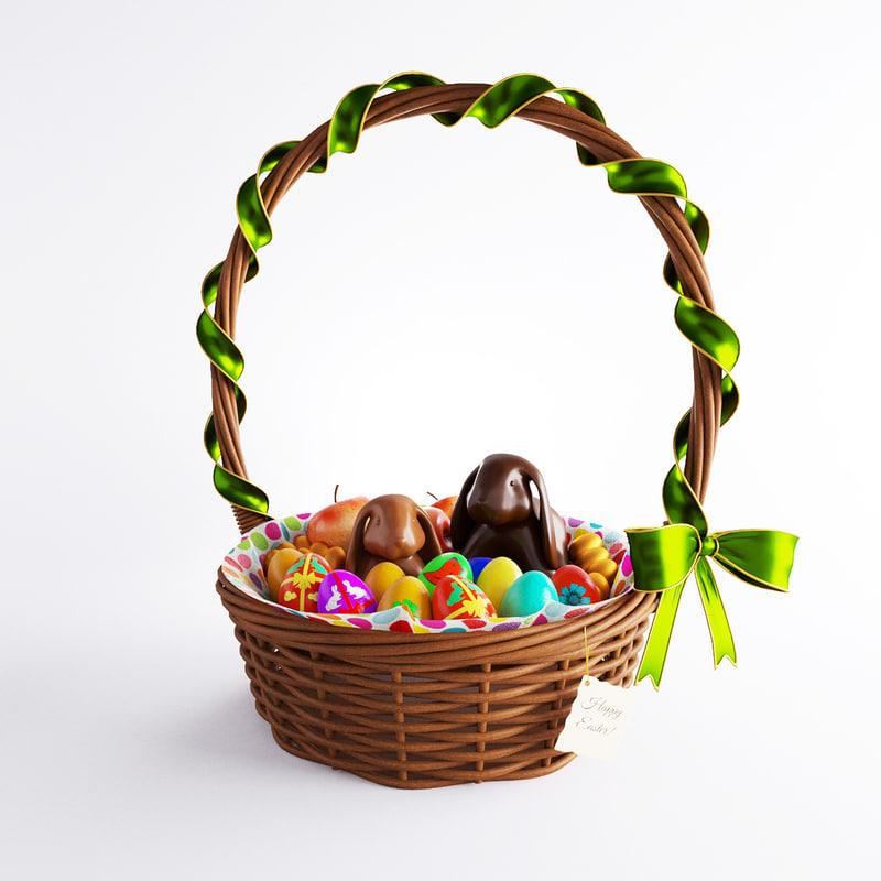 3d model easter basket