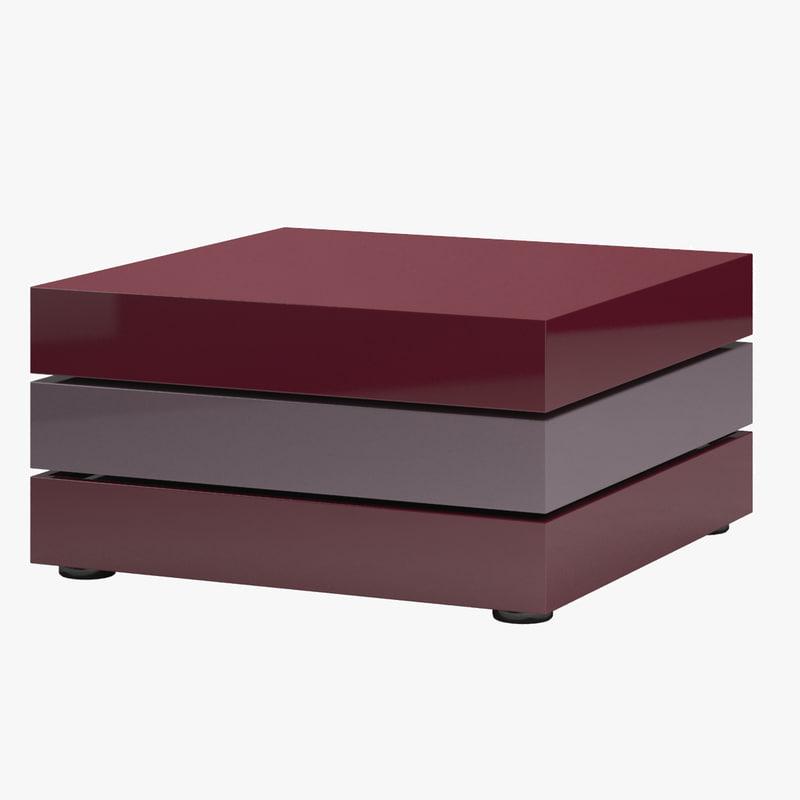 3d model leolux blocco table