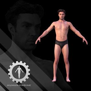 male scan dan body human 3d model