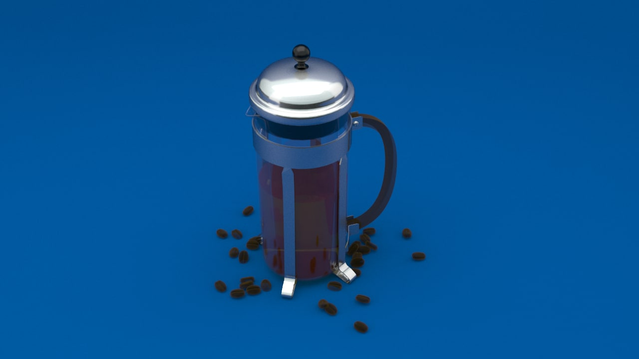 3d chambord french press coffee maker model