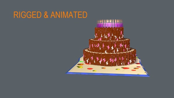 pop card cake 3d model