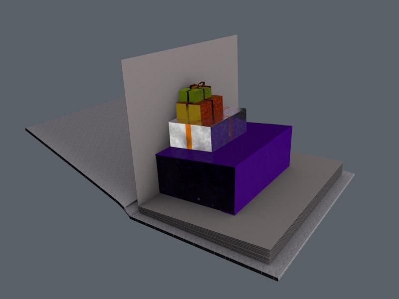pop parcels 3d c4d