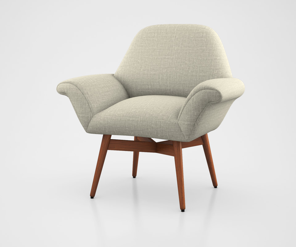 3d model orly upholstered chair